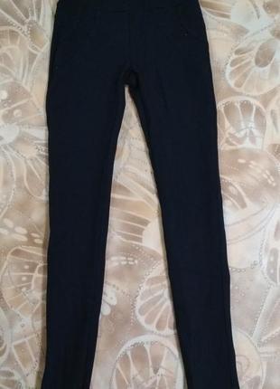 Плотные школьные брюки-лосины-леггинсы
