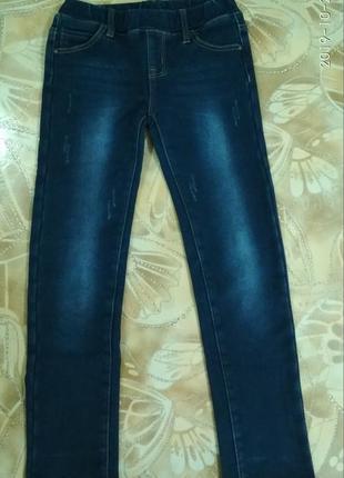 Утепленные джеггинсы, джинсы для девочки