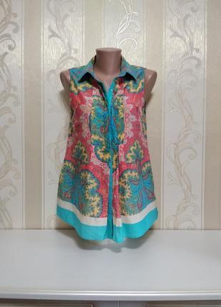Шикарная блуза,  туника для беременных , шелк + хлопок, warehouse.