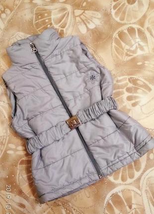 Теплая жилетка для девочки