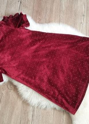 Нарядное, бархатное платье