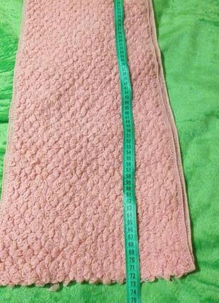 Розовый шарф-снуд