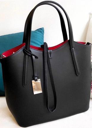 Женская кожаная итальянская сумка vera pelle