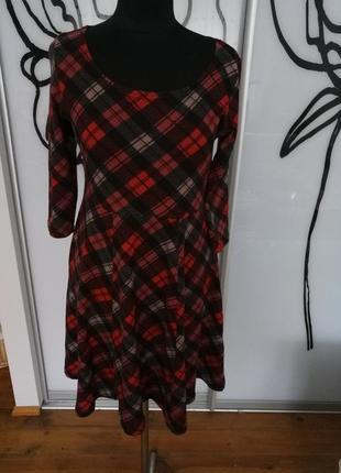 Трикотажное платье в шотландскую клетку от pussycat