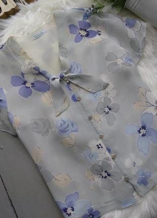 Нежная шифоновая блуза в цветах #3max