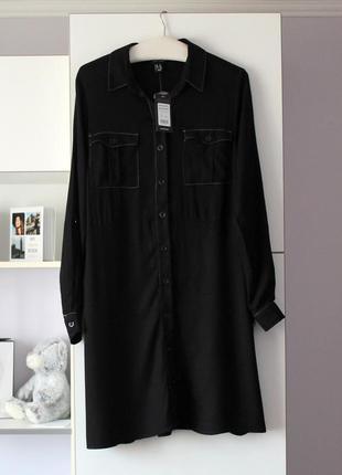 Новое черное платье рубашка от new look