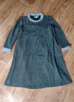 Тёплое платье для беременных