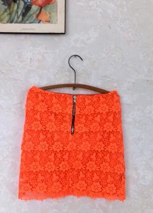 Кружевная мини юбка topshop