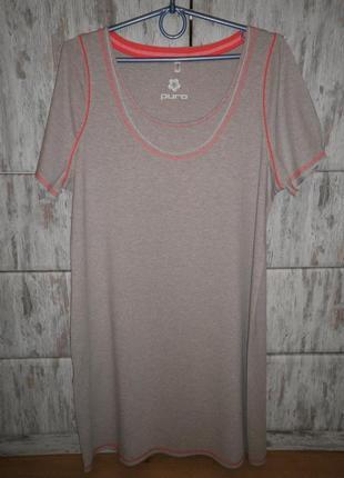 Натуральная удобная фирменная ночная рубашка puro by charmor размер 44 германия