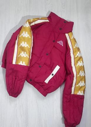 Крутая куртка от kappa, оригинал, теплая курточка,объемная ,спортивная куртка
