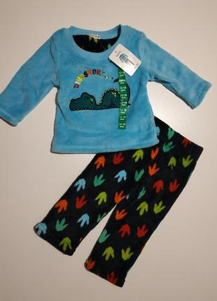 Теплая пижама костюм на флисе crafted в наличии