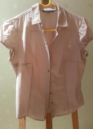 Летняя рубашка с коротким рукавом, размер м