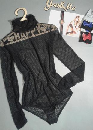 Красивенное  черное  боди от коллекционного бренда ajour