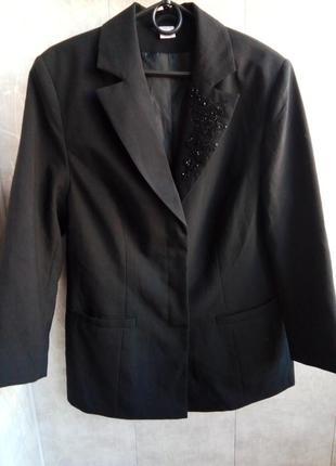Черный пиджак смокинг удлиненный пиджак длинный пиджак
