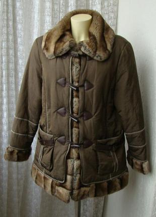 Куртка теплая осень зима petite m. р.52-54 №7297а