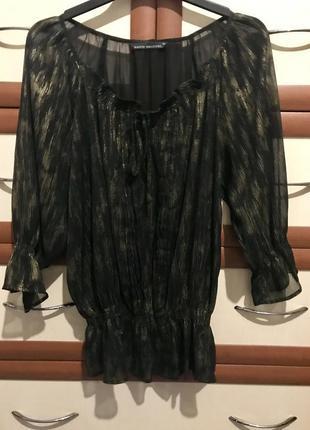 🧺лёгкая шифоновая блузка с напылением 14рр
