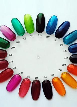 ❤💥витражные капли (краситель) для топа, геля и дизайна ногтей