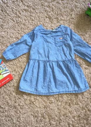 Джинсовое платье для девочки 1-1,5 года