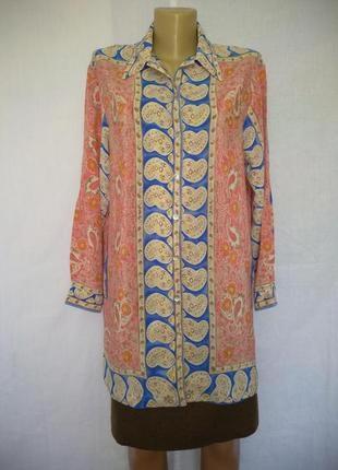 Роскошная шелковая блуза alba moda