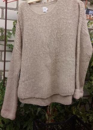 Свитер джемпер пуловер оверсайз нюдовый бежевый