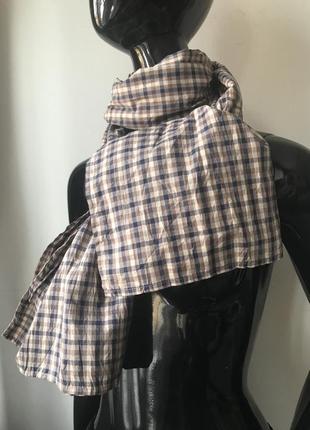 Шарф шаль клeтка сжатая ткань zara