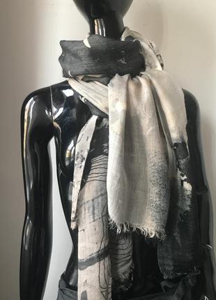 Огромный шарф шаль палантин шерсть вискоза