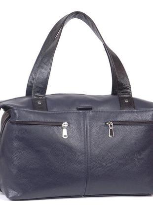 Вместительная кожаная дорожная сумка, разные цвета