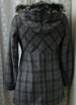 Пальто демисезонное капюшон castro р.44 №7299а