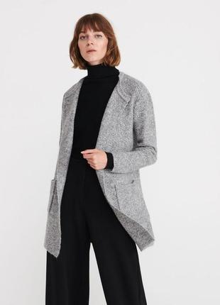 Крутой и тёплый кардиган с карманами, с добавлением шерсти