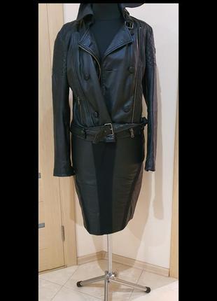 Inwear,юбка, кожа/текстиль, размер 48