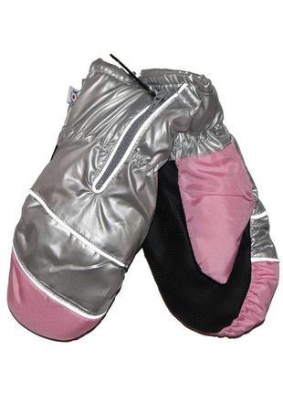 Зимние перчатки серые для девочки 20см, yo, rn-067
