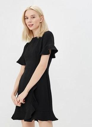 Черное платье oasis с воланами