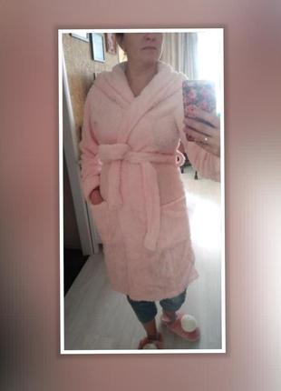 Женский тёплый банный халат