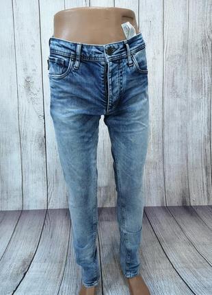 Джинсы стильные jack&jones, синие, slim fit