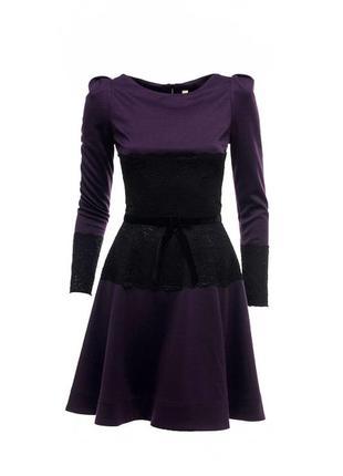 Дизайнерское теплое платье