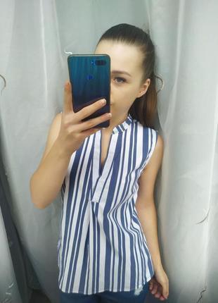 Красивая блузка в полоску
