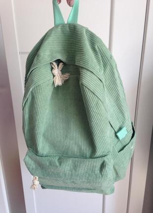 Большой вельветовый молодёжный тканевый рюкзак