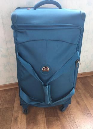 Чемодан-сумка delsey франция. большой чемодан.чемодан на колёсах. брендовый чемодан