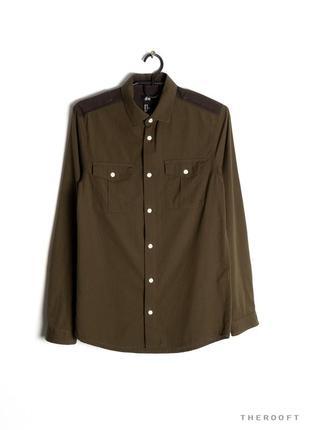 Красивая рубашка в милитари стиле h&m