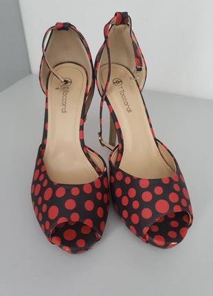 Туфли черные в горошек*