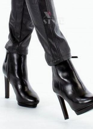 Чобітки осінні на каблуку jennifer&jennifer/ ботинки/ сапожки/ сапоги осень/ ботильйоны