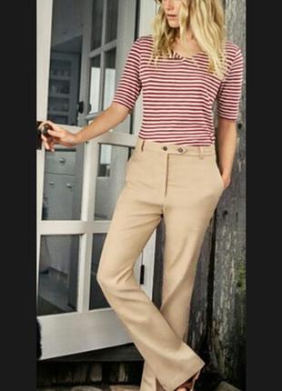 Бежевые брюки в стиле max mara daniel hechter