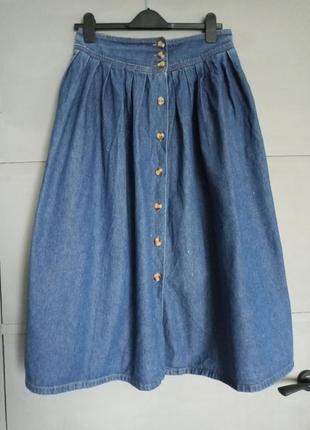 Джинсовая юбка. длинная джинсовая юбка. макси юбка. батал . большой размер