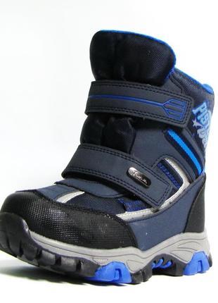 Зимние термо ботинки дутики сноубутсы для мальчика на овчине 3859 термоэффект том м