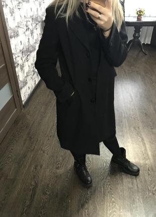 Пиджак удлиннённый пиджак пальто тренч плащ черный