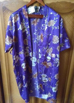 Атласный халат кимоно sale