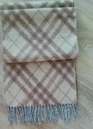 Skotland. натуральный шерстяной шарф.