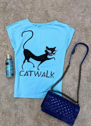 Футболка catwalk мятная в стиле zara