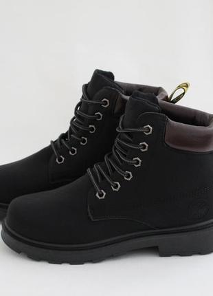 Женские черные зимние ботинки (сапоги, полусапоги) на шнуровках2 фото