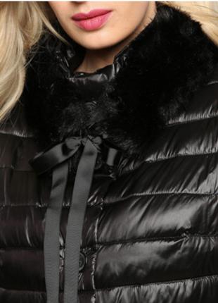 Новый длинный пуховик elena miro пальто на пуху куртка пух большой размер